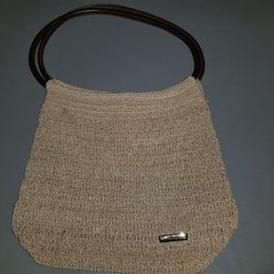 Minicci Brown Crochet Style Purse